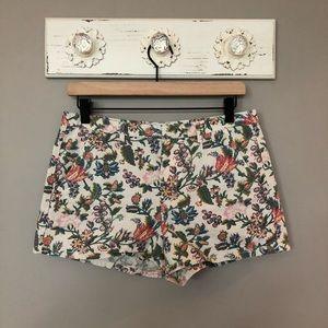 Madewell   Floral Garden Vine Cotton Shorts